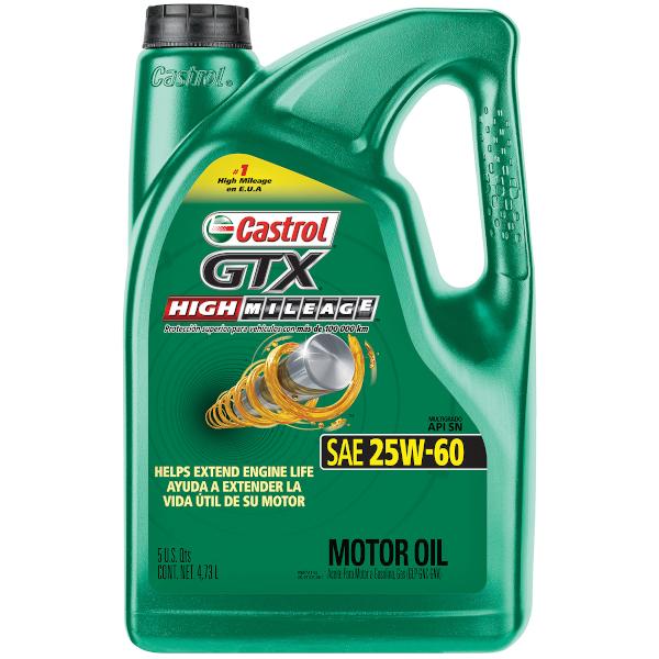 CASTROL GTX HIGH MILEAGE 25W-60